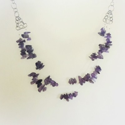 Illusion necklace with amethyst stones (6)
